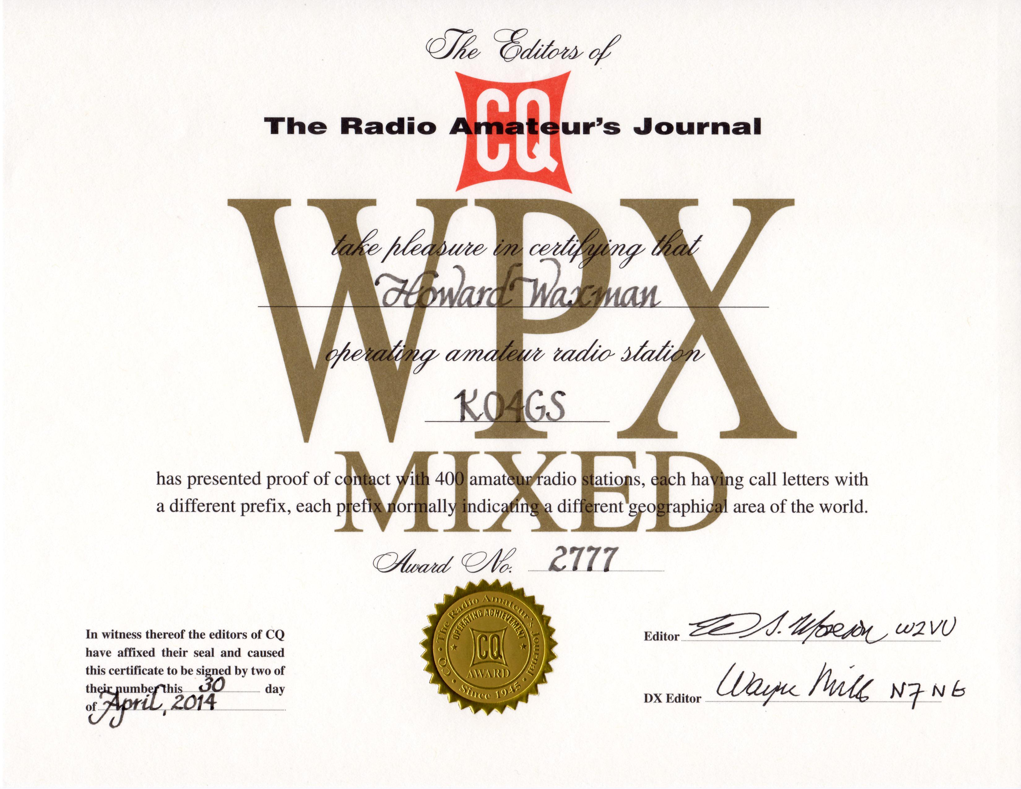 CQ-WPX