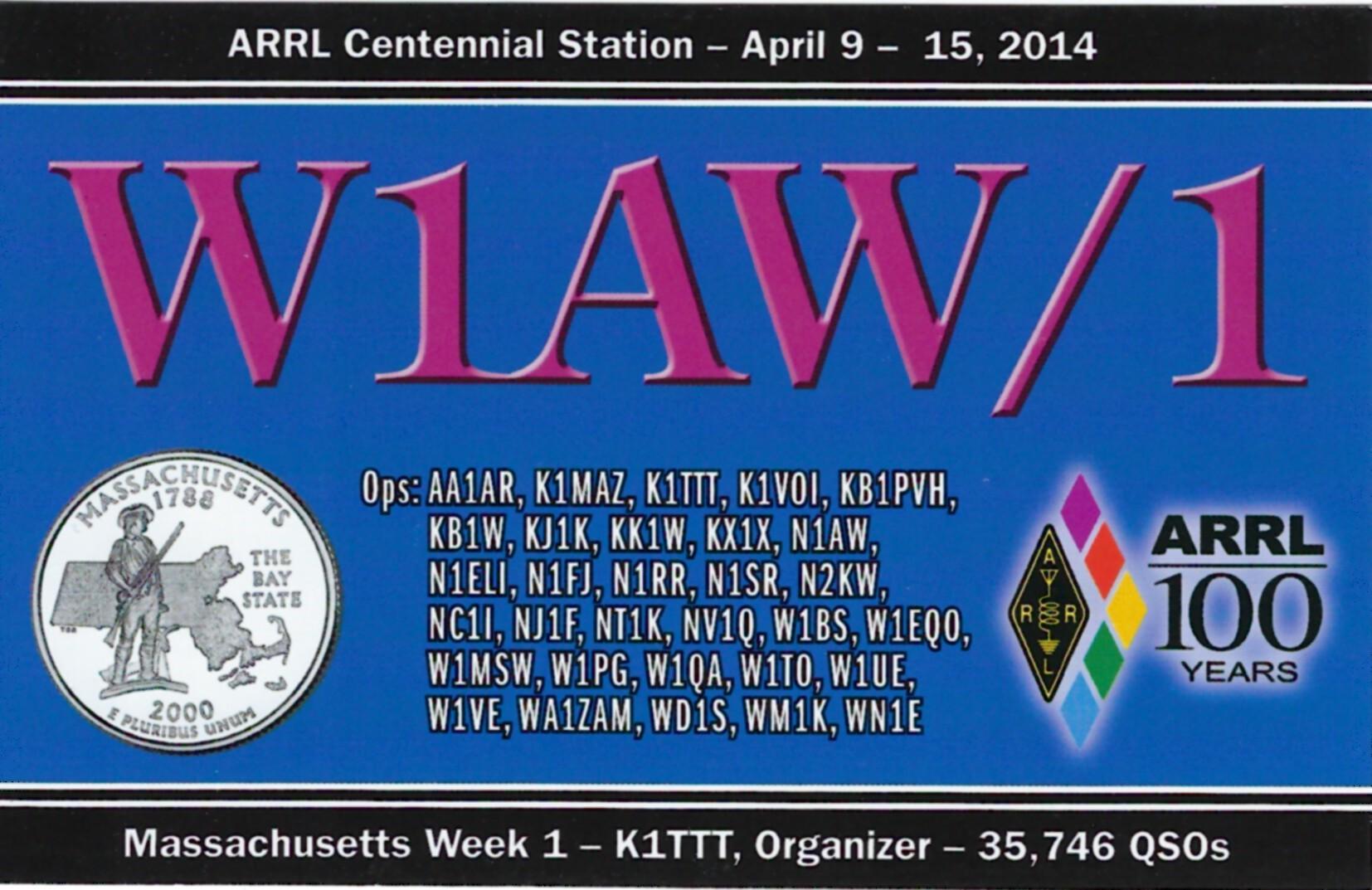 W1AW-1 MA