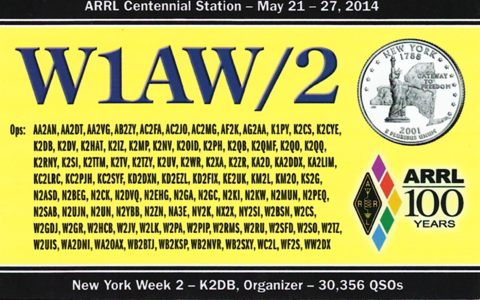 W1AW-2 NY2