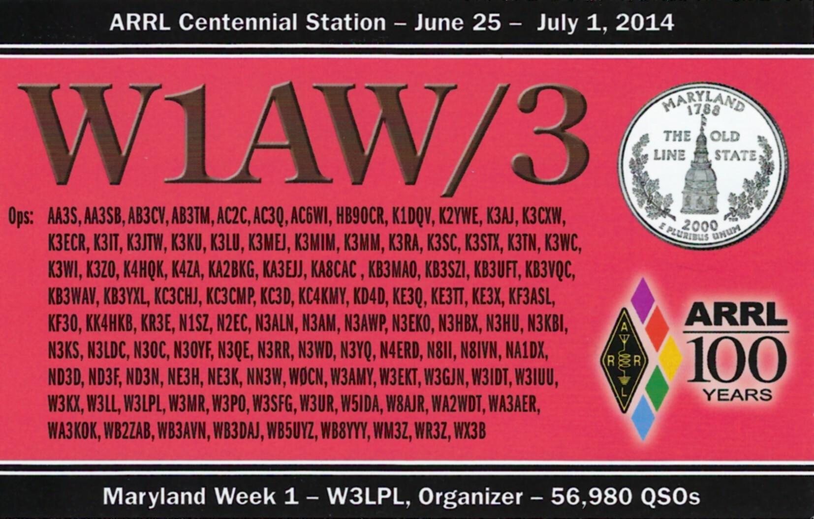 W1AW-3 MD
