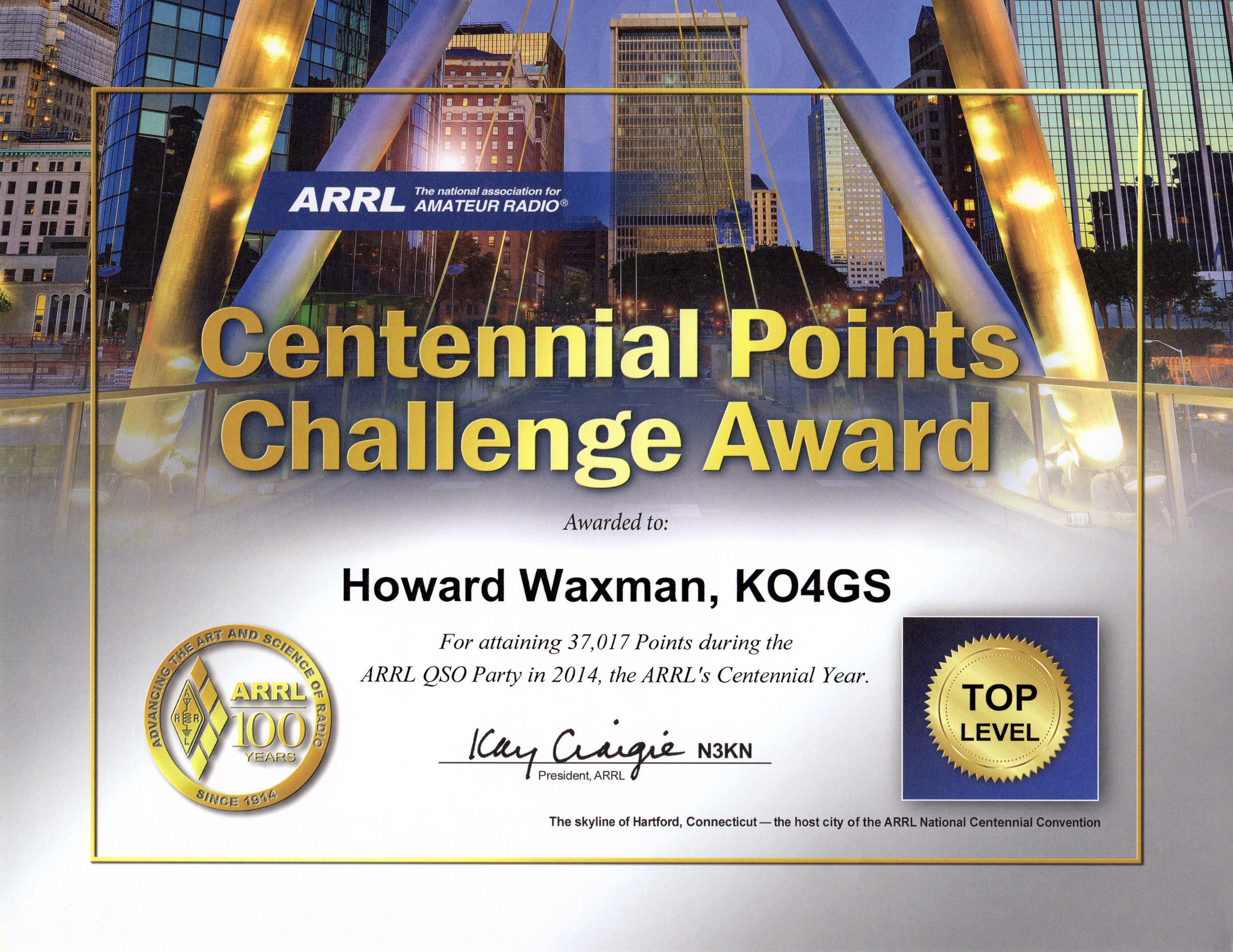ARRL-Centennial-Points-Challenge-KO4GS
