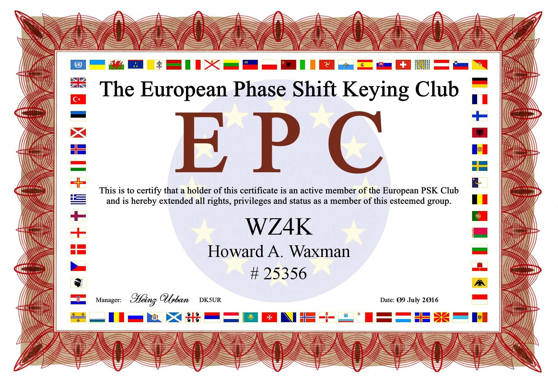 EPC Member Cert