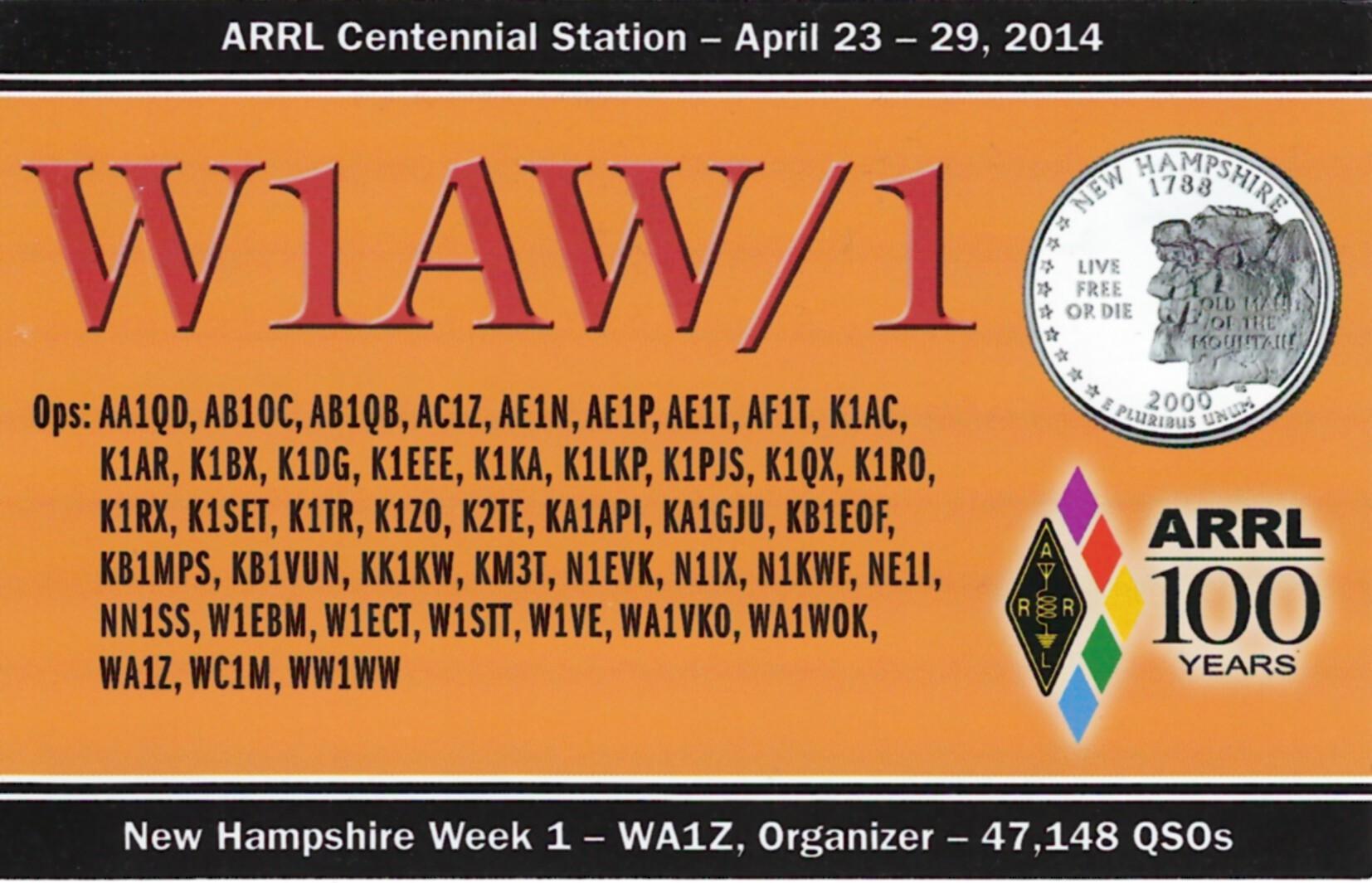 W1AW-1 NH