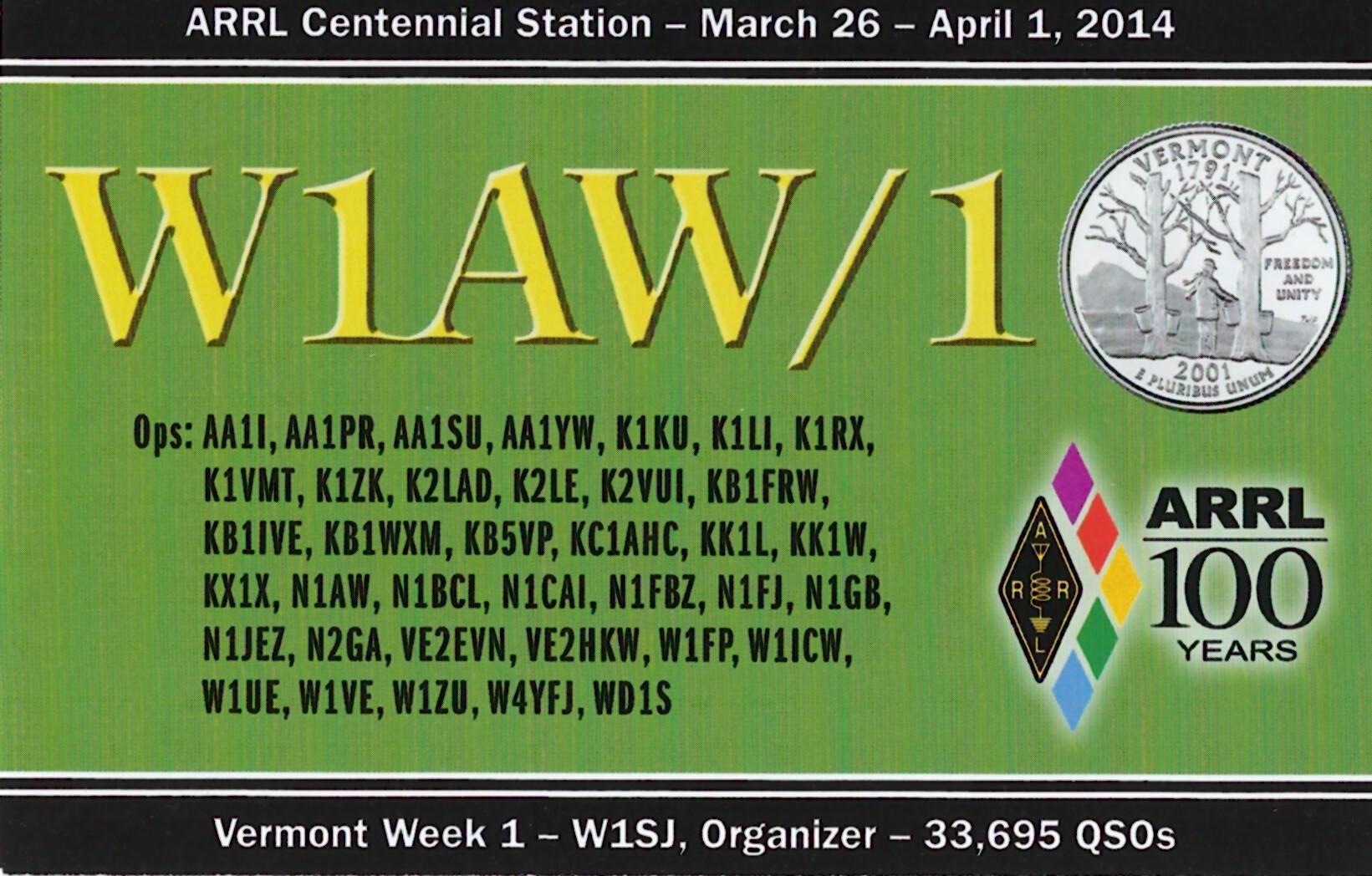 W1AW-1 VT